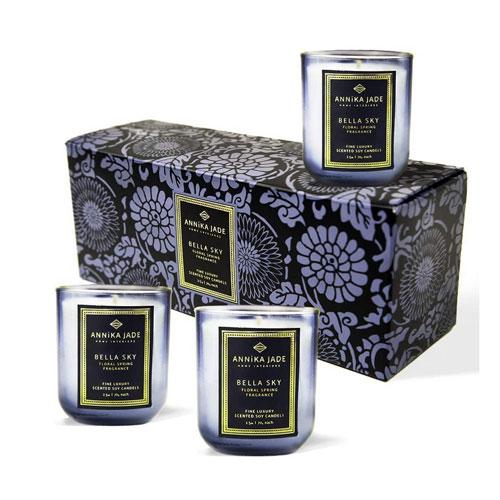 ANNIKA JADE - Blue Candles Gift Set