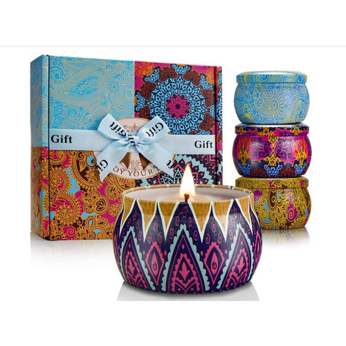 Y YUEGANG Soy Scented Candles Gifts Set
