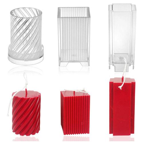 MILIVIXAY 3pcs Plastic Candle Molds for Candle Making