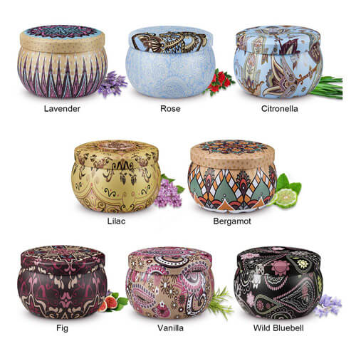 Arosky 8 x 4.2 Oz Scented Candles