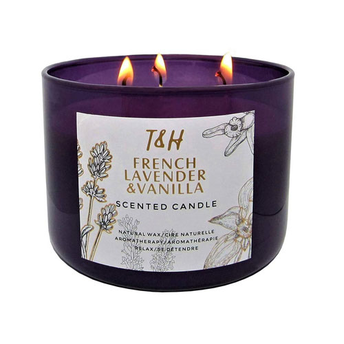 T&H French Lavender and Vanilla Candle